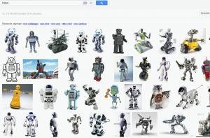 Billeder af robotter fra googlesøgning